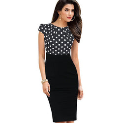 Women's Stylish Cap Sleeve O-Neck Dress