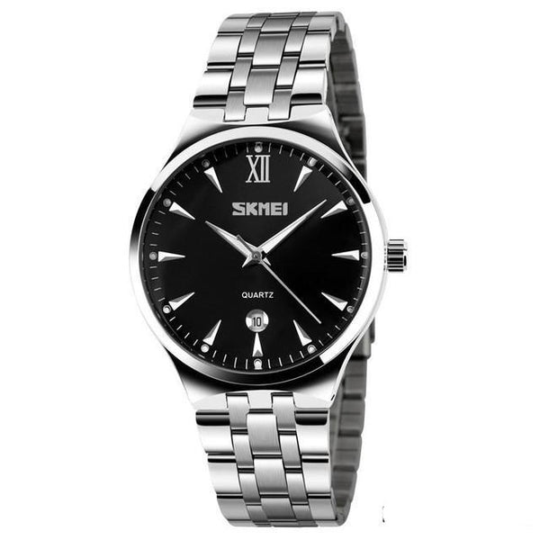 Stainless Steel Silver Wrist Watch Available for Men and Women