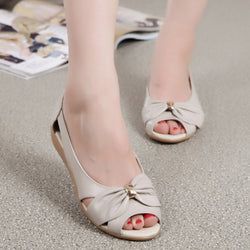 Women's Leather Open Toe Sandals