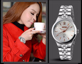Silver Stainless Steel Wrist Watch Available for Men and Women