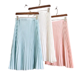Pleated Non-fading Elastic Waist Skirts for Women