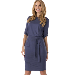 Half-Sleeve Casual Work Slim Dress for Women