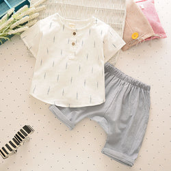Children's Summer Clothes T-shirt and Short Pants Set