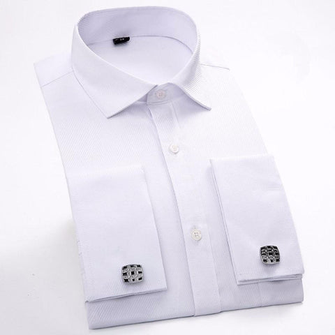 Long Sleeves Slim Fit Cuff Links Shirt for Men