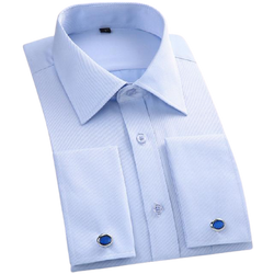 Long Sleeves Slim Fit with Cuff Links Shirt for Men