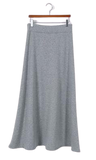 Thick Long Skirt with Elastic Waist for Women