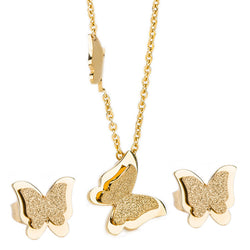 Butterfly Charm Earring & Necklace