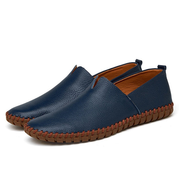 Men's Simple Leather Moccasins Shoes