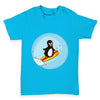 Surfer Guin The Penguin Baby Toddler T-Shirt