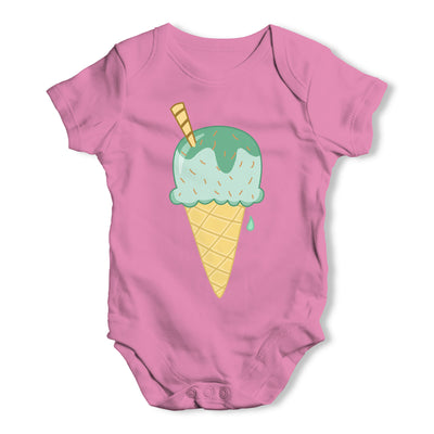 Yummy Green Ice Cream Baby Grow Bodysuit
