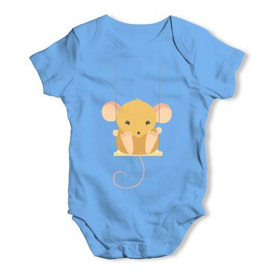 Mouse On A Swing Baby Grow Bodysuit
