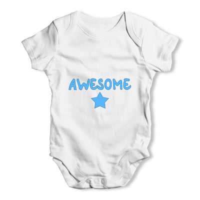 Awesome Star Baby Grow Bodysuit