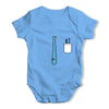 Tie And Pocket Baby Grow Bodysuit