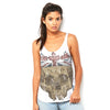 Skull Wearing British Crown  Women's Flowy Side Slit Tank
