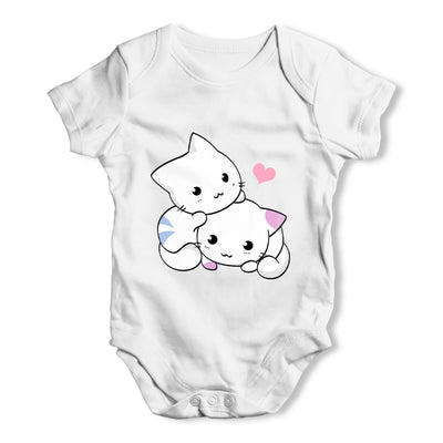 Loveable Cute Cats Baby Grow Bodysuit