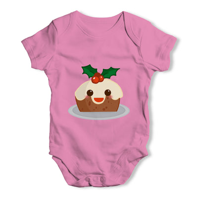 Cute Christmas Pudding Baby Grow Bodysuit