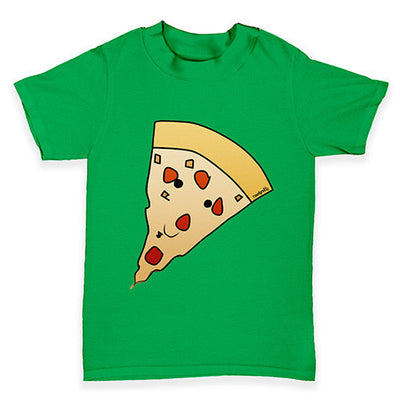 Smiling Pizza Slice Baby Toddler T-Shirt