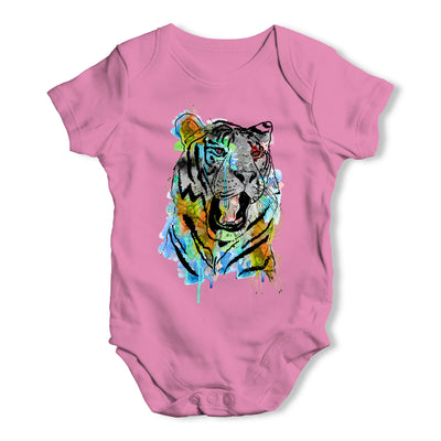 Rainbow Tiger Baby Grow Bodysuit