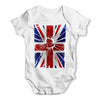 Shattered Distressed Union Baby Grow Bodysuit