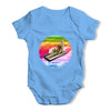 Keyboard Rainbow Cat Baby Grow Bodysuit