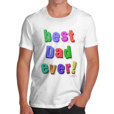 Men's Best Dad Ever Fridge Magnets T-Shirt