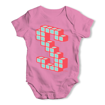 Block Letter S Baby Grow Bodysuit