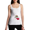 Women's USA States and Flags California Tank Top