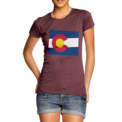 Women's USA States and Flags Colorado T-Shirt