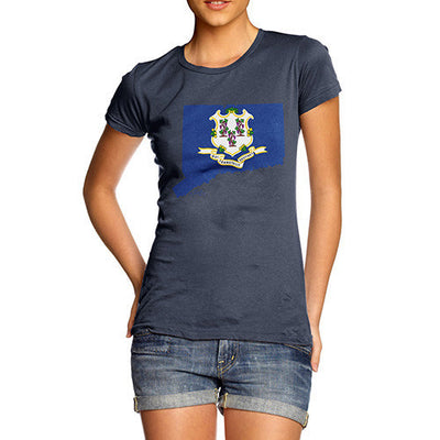 Women's USA States and Flags Connecticut  T-Shirt