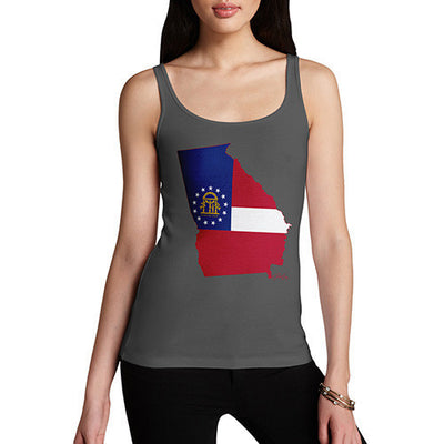 Women's USA States and Flags Georgia Tank Top