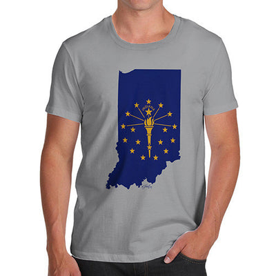 Men's USA States and Flags Indiana T-Shirt
