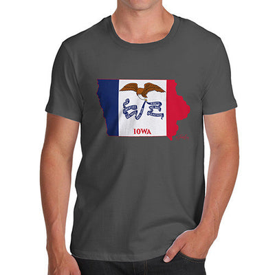 Men's USA States and Flags Iowa T-Shirt