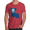 Men's USA States and Flags Louisiana T-Shirt