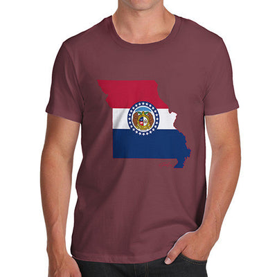 Men's USA States and Flags Missouri T-Shirt
