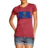 Women's USA States and Flags North Dakota T-Shirt