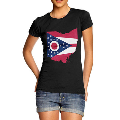 Women's USA States and Flags Ohio T-Shirt