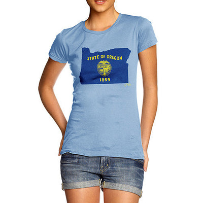 Women's USA States and Flags Oregon T-Shirt