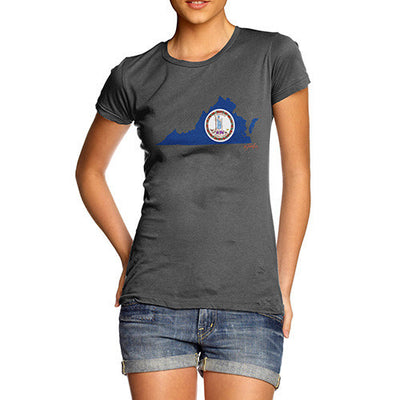 Women's USA States and Flags Virginia T-Shirt