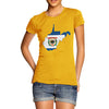 Women's USA States and Flags West Virginia T-Shirt