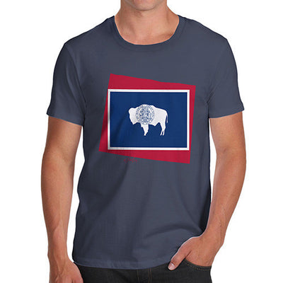 Men's USA States and Flags Wyoming T-Shirt