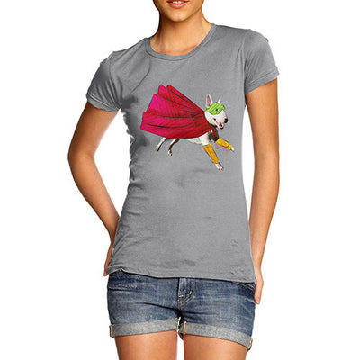 Women's Super Hero Bull Terrier T-Shirt