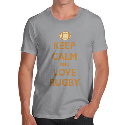 Men's Keep Calm And Love Rugby T-Shirt