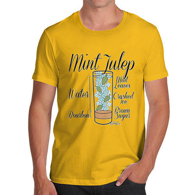 Men's Cocktail - Mint Julep Recipe T-Shirt