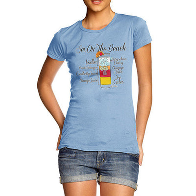 Women's Exotic Cocktail Recipe T-Shirt