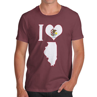 Men's I Love Illinois T-Shirt
