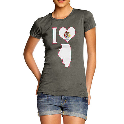 Women's I Love Illinois T-Shirt