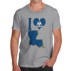 Men's I Love Louisiana T-Shirt