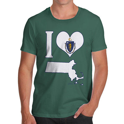 Men's I Love Massachusetts T-Shirt