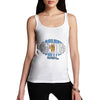 Women's Argentina Rugby Ball Flag Tank Top