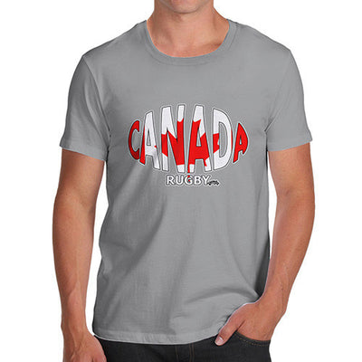 Men's Canada Rugby Ball Flag T-Shirt